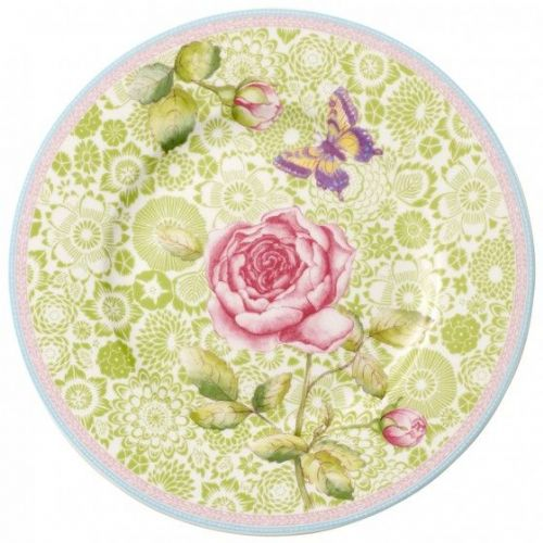Rose Cottage Salad plate - Green 22cm